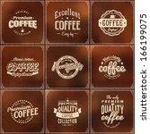 set of coffee shop sketch... | Shutterstock .eps vector #166199075