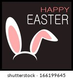 happy easter graphic design... | Shutterstock .eps vector #166199645