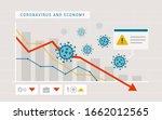 coronavirus impact on global... | Shutterstock .eps vector #1662012565