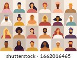 set of avatars of male and... | Shutterstock .eps vector #1662016465