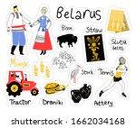 belarus icons set stickers.... | Shutterstock .eps vector #1662034168