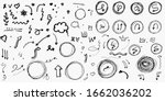 big set of doodle vector arrow  ... | Shutterstock .eps vector #1662036202