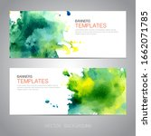 design banner with watercolor... | Shutterstock .eps vector #1662071785
