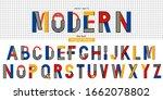 memphis font in modern style....   Shutterstock .eps vector #1662078802