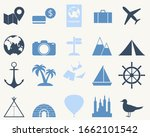 simple travel icon set. tourism ... | Shutterstock .eps vector #1662101542