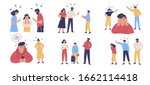 trouble and fight between... | Shutterstock .eps vector #1662114418