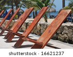 wooden massage chairs on the... | Shutterstock . vector #16621237
