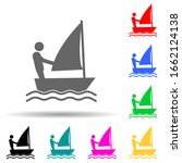 disabled sport sail sign multi...