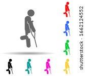 crutches  knee multi color...