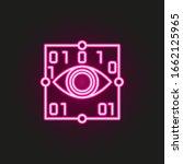 smart eye view neon style icon. ...