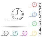 time speed clock multi color...