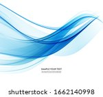 abstract background  blue waved ... | Shutterstock . vector #1662140998