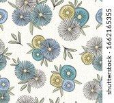 vector flowers in green white... | Shutterstock .eps vector #1662165355