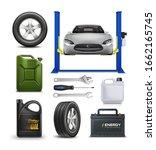 vector realistic set for car... | Shutterstock .eps vector #1662165745