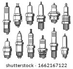 spark plugs types  car ignition ... | Shutterstock .eps vector #1662167122