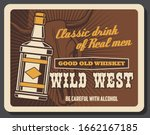 wild west vintage retro poster  ... | Shutterstock .eps vector #1662167185