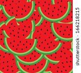 watermelon vector cartoon for...   Shutterstock .eps vector #166218215