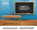 room with a blackboard on the... | Shutterstock .eps vector #1662196285