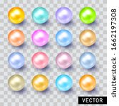 pearls. set is three... | Shutterstock .eps vector #1662197308