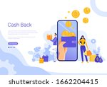 cash back flat design concept ...