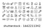 bundle of fools day set icons... | Shutterstock .eps vector #1662211342
