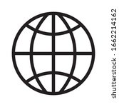 sphere planet line style icon... | Shutterstock .eps vector #1662214162