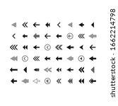 arrow icon collection. arrow... | Shutterstock .eps vector #1662214798