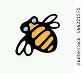 bee icon. | Shutterstock .eps vector #166221572