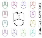 mouse multi color style icon....