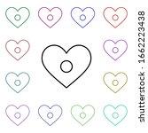 heart record button multi color ...