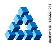 reutersvard optical illusion ...   Shutterstock .eps vector #1662224095