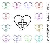 heart flag of swiss multi color ...