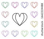 heart shaped open book multi...