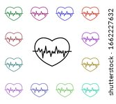 heart beat multi color style...