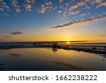 Sunset On South Haven Pier With ...