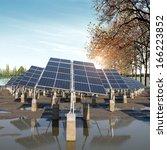renewable solar power plant in...   Shutterstock . vector #166223852
