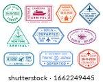 passport visa stamps set ... | Shutterstock .eps vector #1662249445