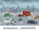 air pollution vector... | Shutterstock .eps vector #1662254392