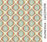 vintage seamless pattern... | Shutterstock . vector #1662294598