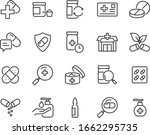 set of medicine icons  pharmacy ... | Shutterstock .eps vector #1662295735