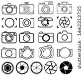 foto camera icon vector set.... | Shutterstock .eps vector #1662313735