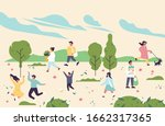 vector spring illustration with ... | Shutterstock .eps vector #1662317365
