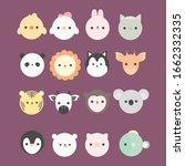 cartoon cute animals for baby... | Shutterstock .eps vector #1662332335