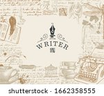Vector Banner On A Writers...