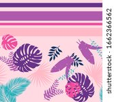 vector pattern with exotic palm ... | Shutterstock .eps vector #1662366562