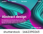 abstract 3d cover with bright... | Shutterstock .eps vector #1662390265