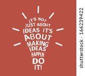light bulb with a motivation... | Shutterstock .eps vector #166239422