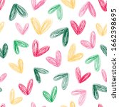 seamless heart background.... | Shutterstock .eps vector #1662398695