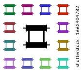 scroll multi color style icon....