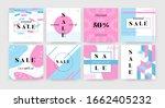 square sale banner. promotion...   Shutterstock .eps vector #1662405232